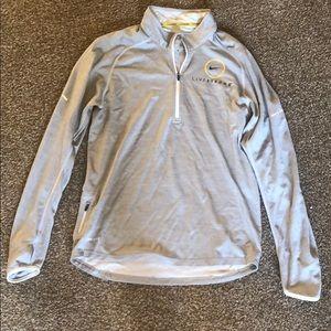 Men's Medium Nike Livestrong light gray pullover